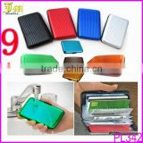 Wholesale 9 Colors NEW Deluxe Aluma Wallet Credit Card Holder Anti RFID Scanning Aluminum Case Box