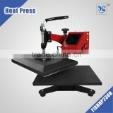 Swing away hot tshirt stamping transfer press machinery