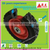 Trolley wheel 6 inch pneumatic rubber wheel 6x1.25/polyurethane wheel