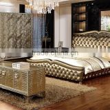 2015 very popular home used furniture leather bed YC030