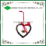 Wicker heart christmas decoration holiday decoration wicker heart decoration