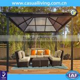 Outdoor Garden metal gazebo with polycarbonate Roof