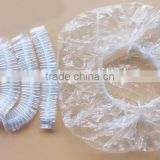disposal clear PE shower cap