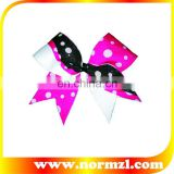 Wholesale Colorful Dot Ribbons Cheerleader Bows For Hair