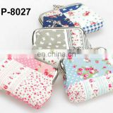 promotional cotton fashion design coin purse