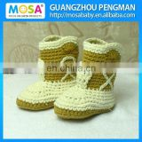 Wholesale Crochet Newborn to Toddler Cowboy Boots,Baby Cow Boy Booties Winter Shoes