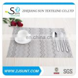 grey classical placemat with PVC