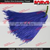 French Metallic Gimp Blue Bullion Wire For Embroidery Work