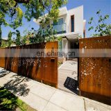 Corten steel metal Iron fence panels/backyard fence gate
