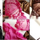 We Have Stocks Various Colors Ladies Very Sexy Breathrable Sheer Emborider Underwear Bras set Lingerie Good Quality 120set/Lot