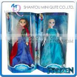"Mini Qute Kawaii with ""Let it go"" music and flash electronic Plastic cartoon Frozen doll princess anna & elsa olaf children toys"