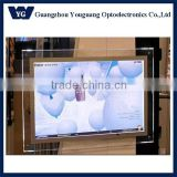 YG super slim wall mounted screw crystal led light box and picture display billboard