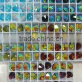 MIXED COLOR OF HEARTS) Glass Beads, Shape Crystal GLASS BEADS, 14MM CRYSTAL GLASS BEADS SOME WITH AB SOME WITHOUT AB RAINBOW
