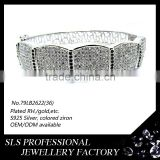 2015 best selling SLS 529 silver jewelry chunky wholesale silver jewelry fashion bracelet wholesale jewelry fashion bella