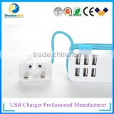 Hot Selling Mobile Phone Accessories Fast Speed Colorful OEM 6 port Micro USB Car Charger