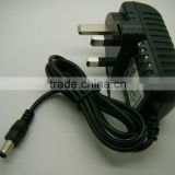 Factory selling Mains AC Power Adaptor Charger Power Supply UK 9v 1.5a 1500ma 2A 18w Negative
