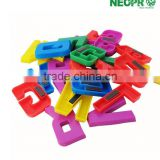 Eco-friendly educational stationery Plastic intelligent magnetic alphabet letters