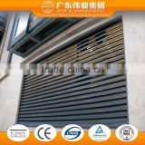 extruded aluminium profiles roll up doors/shutters/louvers for front shops
