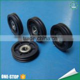 Wholesale moulded injection custom sizes timing belt door slide sheave small plastic nylon pulley wheels with bearings