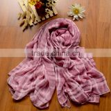 Fashion Lady checked plaid patterned colorful polyester artificial cotton rayon long scarf,cotton scarves and shawls,hijab