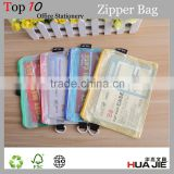Soft mesh clear pvc zipper bag plastic bag with zipper pouch bag