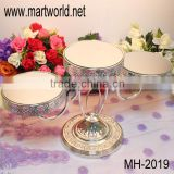 Royal wedding cake stand with acrylic crystal hanging beads;cake stand for wedding /party/hotel decoration(MH-2019)