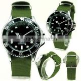Nylon Belt Stainless Steel Divers Military Navy Watch Luxury Mens Watch, fancy quality watch