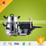 2015 Hot custom black bakelite stainless steel cookware best stainless steel pans