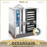 HGA-8 8 pans Stainless Steel Industrial Gas Convection Oven                                                                         Quality Choice