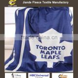 New Design toronto maple leafs 100% polyester Throw 120x80cm short-pile velour Sherpa fleece blanket