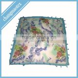 colorful polyester voile scarf