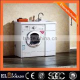 High Quality Solid wood moisture-resistant wooden Multi-function laundry washing machine cabinet