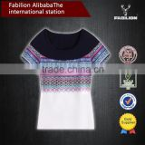 National wind dress printing cotton geometric design of cultivate one's morality short sleeve of chinese t-shirt cheap