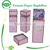 high quality printed colorful luxury handmade customized bottle cosmetic skin care packaging box