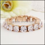 AAA Quality clear square stone Zircon gold plated Bracelet For Women