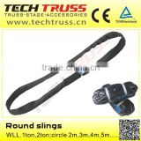 WLL 1 ton round slings , lifting sling ,round webbing sling slings for stage truss system