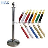 Ball Top Titanium Coated Stainless Steel Red Velvet/Twisted simple queue management system