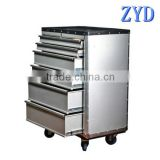 durable industrial heavy duty aluminum rolling tool cart/tool wagon/tool van/tool vehicle/tool lorry with drawers