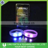Party Cheer Gift Led Light Silicon Bracelets Radio Control Led Flashing Silicone Wristband