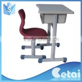 folded packing school desk and chair,metal study table and chair