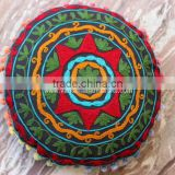 Round Floor cushion cover Indian Suzani cushion cover Indian Bohemian Vintage suzani Round throw pillow