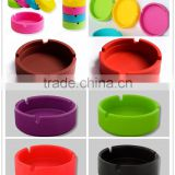 Hot Sale high quality eco friendly promotional cheap portable round cigar cigarette silicone ashtray