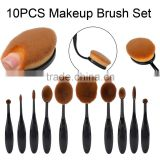 New Products 2016 10 Pcs Soft Oval Makeup Brush, Professional Cosmetic Makeup Brush Set Online Shopping                                                                         Quality Choice