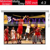 conference system for 100 inch fast folding remote control matte grey motorized projector screen