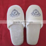 100% Cotton Hotel Slipper Velvet Closed Toe Slippers