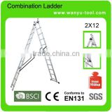 ladders aluminum with SGS/EN131 ladder clamps fire escaper ladder