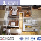 Scale 1/30 residential architcture interior model for real estate,scale house plan design