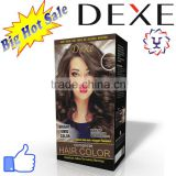hair color cream with oxidant with Dexe high quality for hair color dye