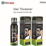hair thickening dexe hair building fibers with high profit margin hot sale product of hair thickener spray