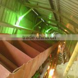 Sidewall conveyor belt for cement conveyor equipment
